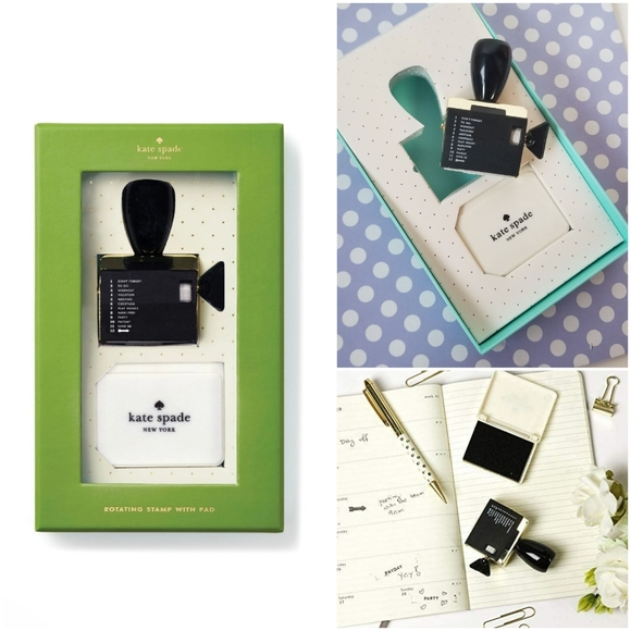 Kate Spade rotating stamp with ink